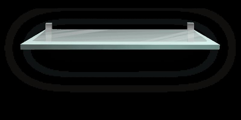 מדף זכוכית מחובר