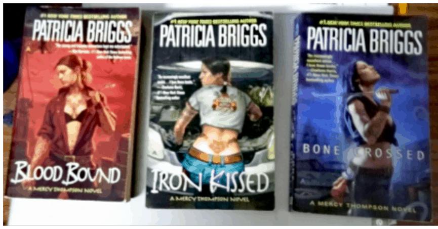 שלושה ספרים מתוך הסדרה.