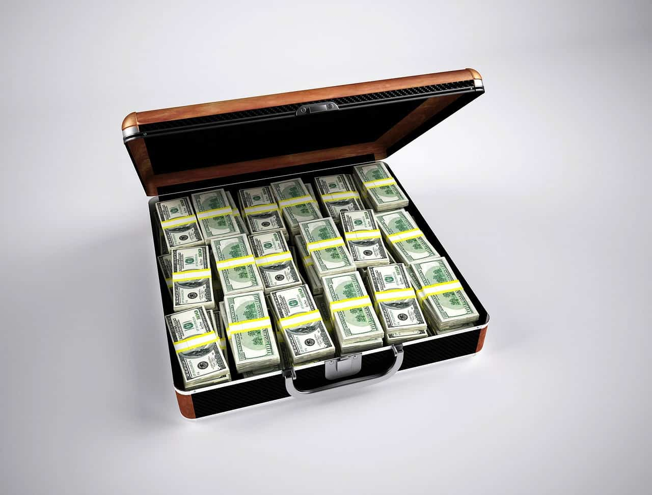 מזוודה עם דולרים